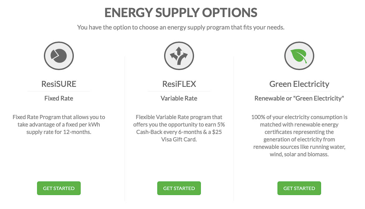 Residents Energy - Energy Supply Options