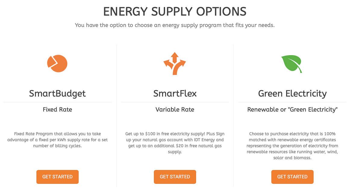 IDT Energy - Energy Supply Options