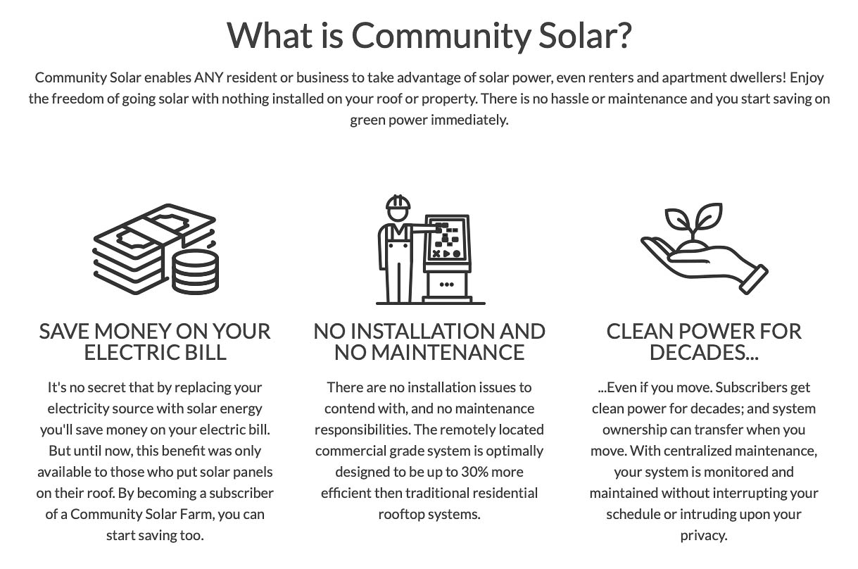 Residents Community Solar - What is Community Solar?